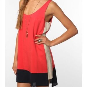 Urban outfitters high low color block dress